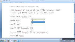 How to translate into Bengali from English sentence
