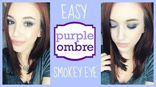 EASY purple ombre smokey eye tutorial ♡ | Jamie Fechtmuller