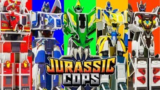 쥬라기캅스!! Jurassic Cops!! 크고 강하다! 공룡 로봇 경찰!! 종이 접기!!