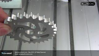 X6-2200L High Speed to Cutting a Aluminum Gear