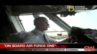 President Barack Obama inside Air Force One