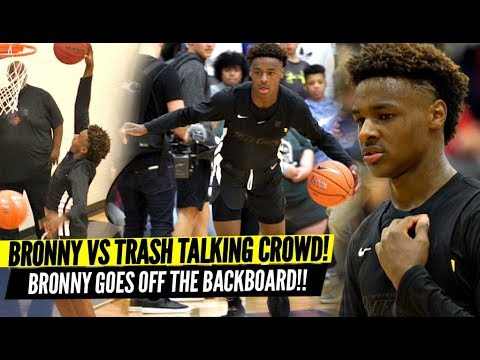 Bronny James QUIETS Trash Talking Crowd & Overrated Chants Goes OFF THE BACKBOARD