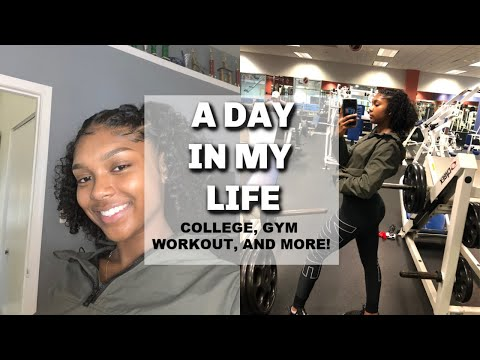 A DAY IN MY LIFE | COLLEGE, GYM WORKOUT, AND MORE!