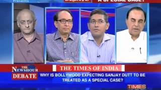 Dr Subramanian Swamy in Times Now Debate - Sanjay Dutt a special case?