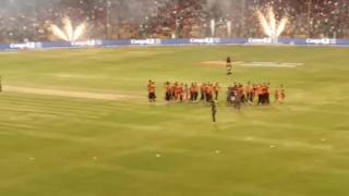 SUNRISERS HYDRABAD win the VIVO IPL 2016||winning moments||