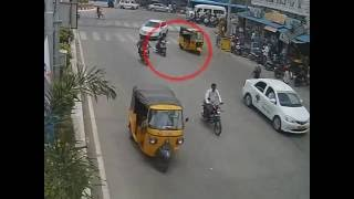 Love at First Site Accident | Caught By CCTV Cam | Live Accidents in India | Tirupati Traffic Police