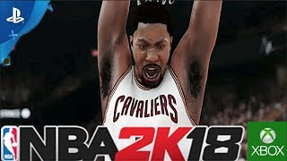 NBA 2K18 FREE ROSTER DOWNLOAD - DERRICK ROSE ON THE CLEVELAND CAVALIERS TRAILER! DOWNLOAD NOW! (PS4)