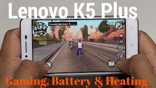[Hindi - हिन्दी] Lenovo Vibe K5 Plus Detailed Gaming, Battery and Heating Review