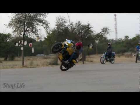 JODHPUR BIKE STUNTS CIRCLE WHEELI ENDO STOPPY BIKERS OF JODHPUR HD VIDEO