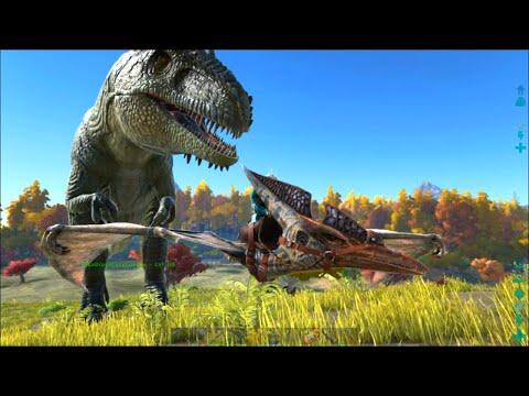 ARK Survival Evolved 25 Giganotosaurus Taming