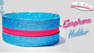 How to make an earphone holder at home | Earphone case | Best out of waste | DIY | Artkala 159