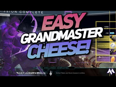 Lake of Shadows Grandmaster EASY CHEESE FAST Palindrome Farm Destiny 2 Grandmaster Guide