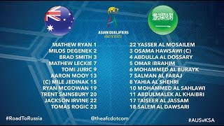 Asian Qualifiers #RoadToRussia Australia VS Saudi Arabia