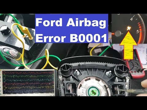 Ford Galaxy Airbag light on. Error B0001. Fault finding and repair.