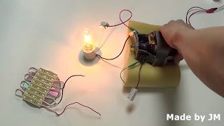 How to turn a universal motor into a generator(Self excited DC generator experiment)