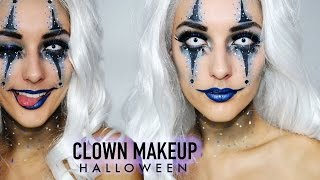 Blue Sexy Clown Halloween Makeup - By Indy