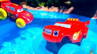 Машинки на пляже 🚛🚗🚜 на Море и в бассейне 🔴 LIVE / Прямой эфир все серии подряд ТаТаШоу