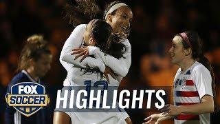 Alex Morgan's volley puts USWNT ahead vs Scotland   2018 Women's International Friendly Highlights