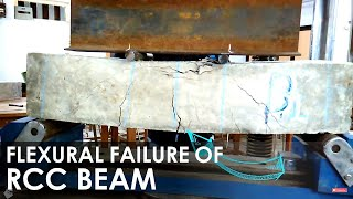 Flexural Failure of Reinforced Concrete Beam I Flexure Strength I Concrete Laboratory Testing