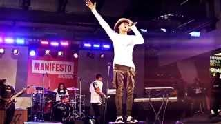 "Raury Performs ""God's Whisper"" LIVE @ Dundas Square 9.20.14"