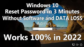 Hack/Reset Windows 10 Password without any Software and Bootable USB/ DVD media