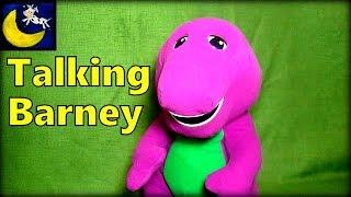 Talking Barney the Purple Dinosaur Plush Toy Review Video