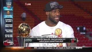June 20, 2013 - ESPN - LeBron James Interview - 2013 NBA Finals Game 07 (Heat Vs Spurs)