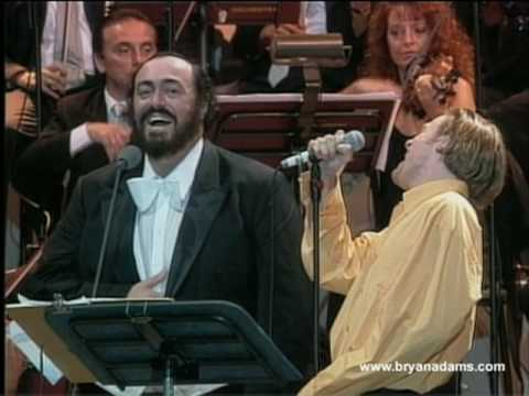 Bryan Adams & Luciano Pavarotti - 'O Sole Mio Video Clip