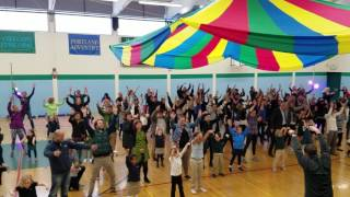 Beginning School Students and Families Dance for Movement Program Showcase