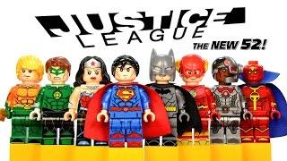 LEGO Justice League New 52 DC Super Heroes KnockOff Minifigures w/ Batman Superman & Wonder Woman