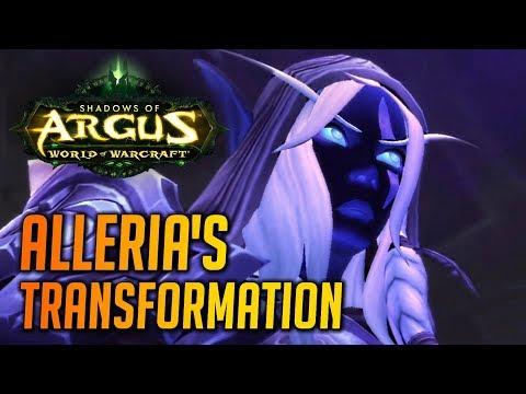 WoW Legion 🌟 Alleria's Void Transformation Cutscene