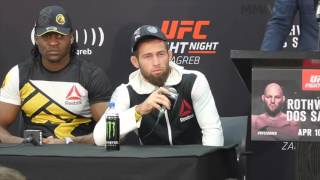 UFC Fight Night 86 Mairbek Taisumov post presser highlight