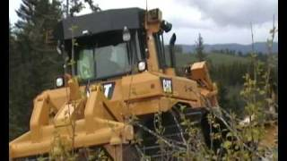 Sellæg Maskin working with Cat D6T, mai 2008, Sparbu - Norway