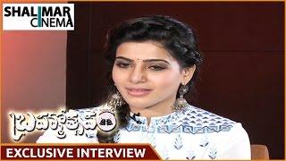 Samantha Exclusive Interview Part 01 | Brahmotsavam Movie || Mahesh Babu , Kajal Aggarwal