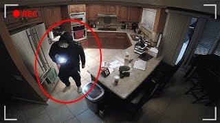 stranger living in attic broke in...& stole something..