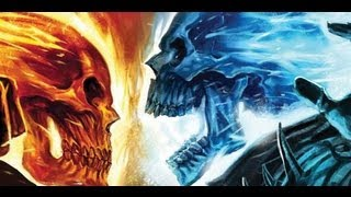 ☠☠☠ ★ Ghost Rider ★ vs ★ Ghost Rider blue ★  ☠☠☠