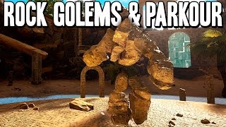 Downward - Rock Golems & Parkour -  [NEWER VIDEO IN DESCRIPTION] Gameplay Impressions PC