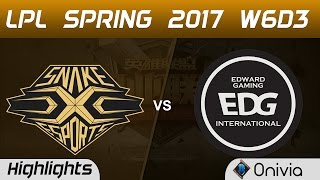 SS vs EDG Highlights Game 1 LPL Spring 2017 W6D3 Snake vs Edward Gaming