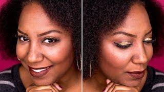 Fall Makeup Look: Glitter Eyes Brown Lips
