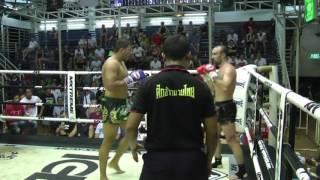 Alexander (Sinbi Muay Thai- Red corner) fights at Bangla Stadium- 16.4.2017