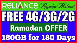 Reliance 4G Launches a Special Ramzan Plan Offering 1GB/day 4G Data for 180 Days