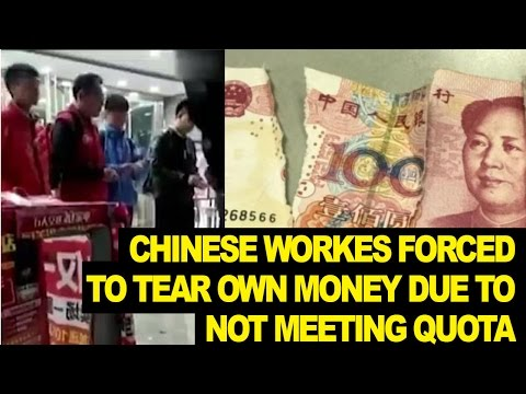 Chinese Employees Miss Quote, Forced to TEAR UP Own Money