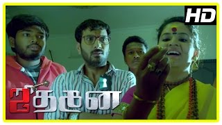Jithan 2 movie Scenes | Ghost assaults tantrik and her assistants | Jithan Ramesh
