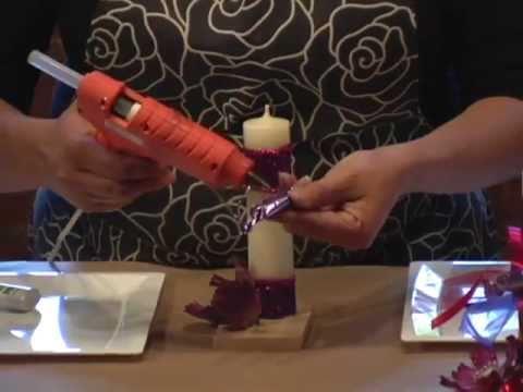 Recuerdo para XV años con velas y dulces DIY Sweet Sixteen souvenir