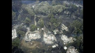 Breaking California Wildfires homes destroyed YET lots of unburned trees Raw Footage 11/15/18