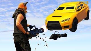 GTA V Online: MINIGUN vs CARROS - BATALHA ÉPICA!