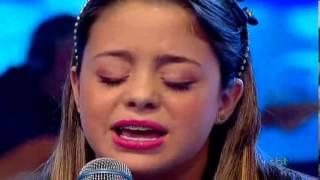 Quando eu Chorar  -Bekah Costa   Programa Raul Gil   Jovens Talentos Kids.