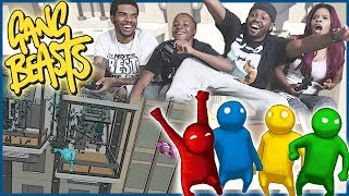 EPIC EXPLODING MOVIE SCENE! - Gang Beasts Gameplay