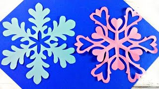 Origami snowflake frozen easy paper tutorial instructions. New year christmas diy paper snowflakes