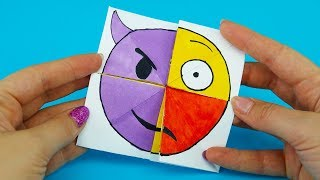 Emoji Diy Paper Magic Card   Face Changer Tutorial For Kids